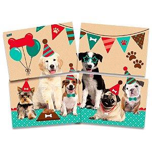 Painel 4 Partes Dogs Cachorros | Festcolor