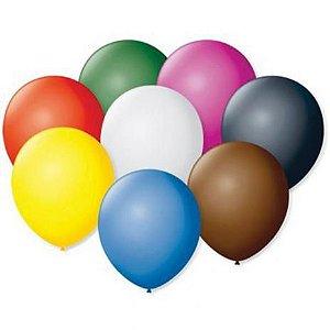 Balão / Bexiga Liso Cores Diversas Nº 5 C/50 | Happy Day