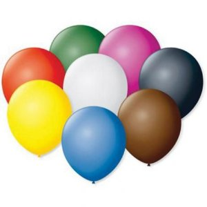 Balão / Bexiga Pera Sortido Nº 6.5 C/50   Happy Day