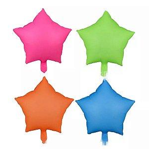 Balão Estrela Neon 45cm