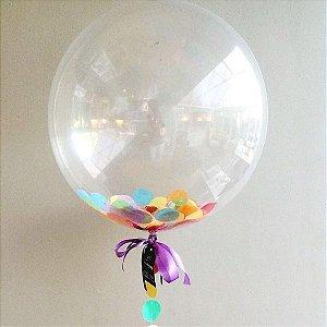 Balão Bubble Redondo 18 Polegadas