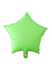 Kit Balão Estrela Neon 45cm - Verde Limão C/5