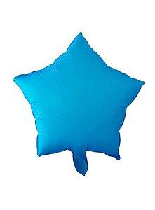 Kit Balão Estrela Neon 45cm  - Azul claro C/5