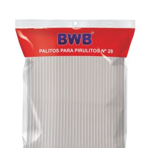 Kit Palito De Pirulito Cristal C/250un 28cm | BWB