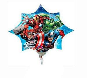 Kit Balão Metalizado Minishape Vingadores C/5 | Regina