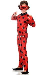 Fantasia Original Miraculous Ladybug Infantil Longa Luxo