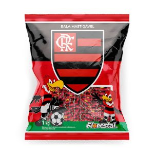 Bala Mastigável Time Flamengo 1KG