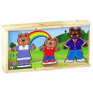 Caixinha Troca Roupas - Família Urso