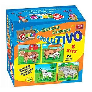 Quebra Cabeça Evolutivo - Kit com 6
