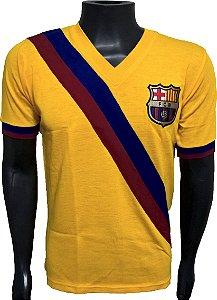 Camisa Retrô Barcelona Amarela Diagonal