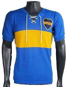 Camisa Retrô Boca Juniors c/ Cordinha