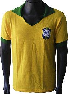 Camisa Retrô Seleção Brasileira Brasil 1962
