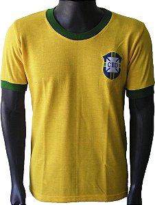 Camisa Retrô Seleção Brasileira Brasil 1970