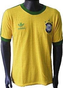Camisa Retrô Seleção Brasileira Brasil 1978