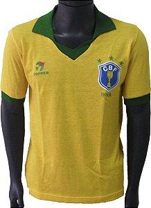 Camisa Retrô Seleção Brasileira Brasil  1986