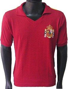 Camisa Retrô Seleção Espanhola Espanha 1986