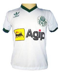 Camisa Retrô Palmeiras Agip Branca 1987