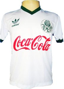 Camisa Retrô Palmeiras Coca Cola Branca 1989