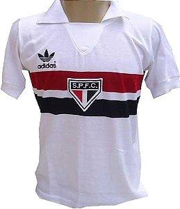 Camisa Retrô São Paulo SPFC Branco 1980