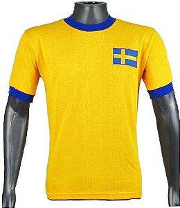 Camisa Retrô Seleção Sueca Suécia