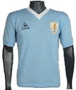Camisa Retrô Seleção Uruguaia Uruguai 1986
