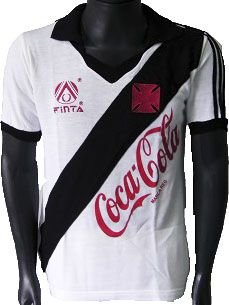 Camisa Retrô Vasco da Gama Coca Cola Branca 1989