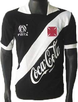 Camisa Retrô Vasco da Gama Coca Cola Preto 1989