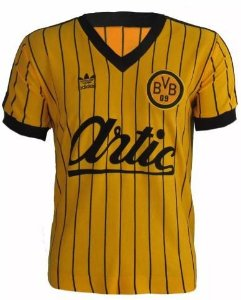 Camisa Retrô Borussia Dortmund Artic Anos 80