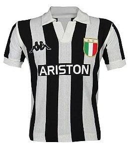 Camisa Retrô Juventus da Itália Ariston