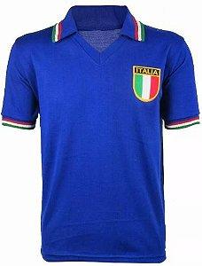 Camisa Retrô Seleção Italiana Itália 1982