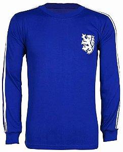 Camisa Retrô Seleção Holandesa Holanda Goleiro Azul