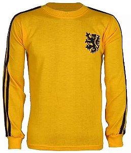 Camisa Retrô Seleção Holandesa Holanda Goleiro Amarela