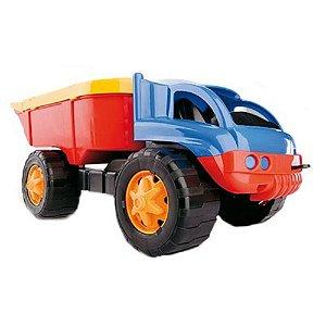 Caminhão Iron Truck Blocos Encaixar Didático Dismat - Mk126