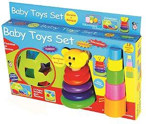 Aprendendo E Brincando Encaixe Aneis Didático Baby Toys Set