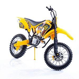 Moto Big Cross Brinquedo 44 Cm Amarela Bs Toys - Ref: 364