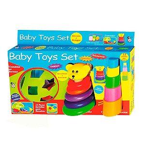 Kit Brinquedos Educativos Didáticos Para Bebê Baby Toys Set