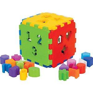 Brinquedo Cubo Didático Infantil Baby Mercotoys p/ Bebês