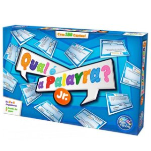 Jogo Qual É A Palavra? Junior C/ 180 Cartas - Pais E Filhos