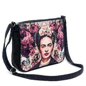 Bolsa Capanga Frida Kahlo Floral Mexicana Ótimo Acabamento