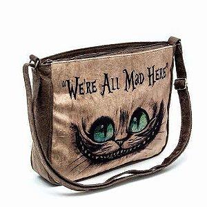 Bolsa Capanga Gato Cheshire Risonho Alice Ótimo Acabamento