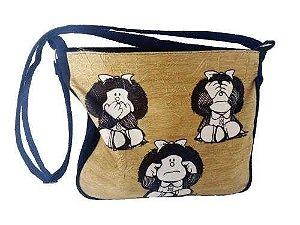 Bolsa Feminina Toda Mafalda Camurça Bolsa Capanga