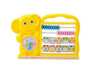 Brinquedo  Abaco Fechado Elefante Infantil