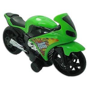 Moto Fricção 34 Cm Motocicleta Super 1600 - Bs Toys Ref: 195