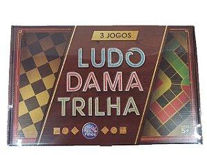 Jogo Ludo Dama Trilha 3 Jogos em 1 Pais & Filhos - 22849