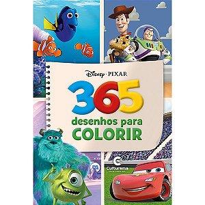 Livro 365 Desenhos para Colorir Disney Pixar Meninos