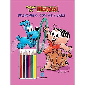Livro Ler Colorir Turma da Mônica 36 Paginas c/ Lapis 36 Pgs