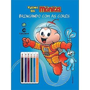 Livro Ler Colorir Turma da Mônica Cebolinha c/ Lapis 36 Pgs