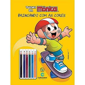 Livro Cascão Turma da Mônica Ler Colorir c/ Lapis 36 Pgs