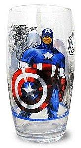 Copo Capitão América Long Drink 430 ml Licenciado - 117010