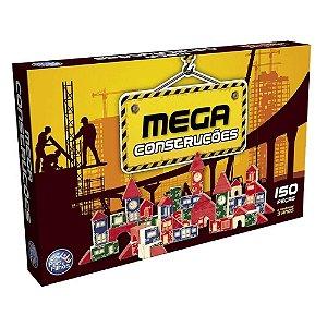Brinquedo Pedagógico Mega Construções 150 Pçs